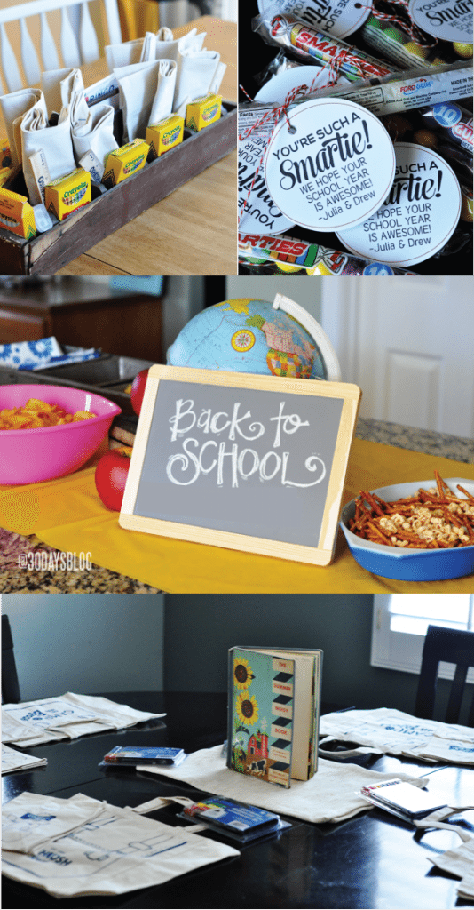 Easy and fun back to school party to host for your kids to welcome in the new school year! www.thirtyhandmadedays.com