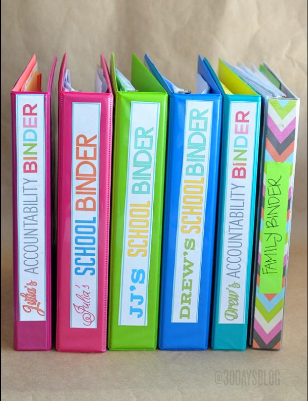 Binders for School: Make an accountability binder