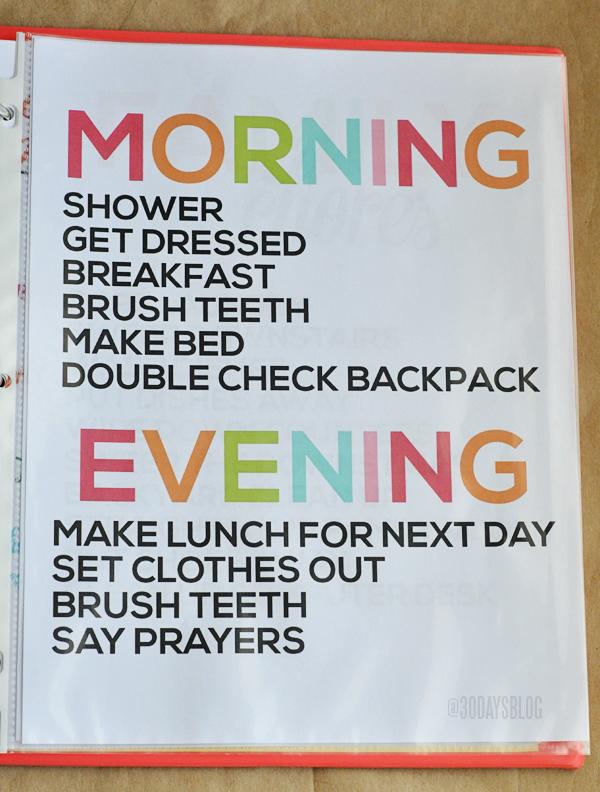 Daily Chores www.thirtyhandmadedays.com