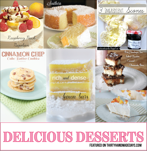 Desserts featured at 30daysblog