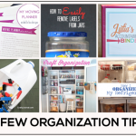 Organization Tips featured on www.thirtyhandmadedays.com