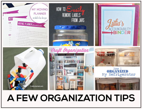 Organization Tips featured on www.thirtyhandmadedays.com