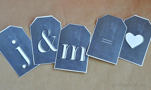 J & M = love www.thirtyhandmadedays.com