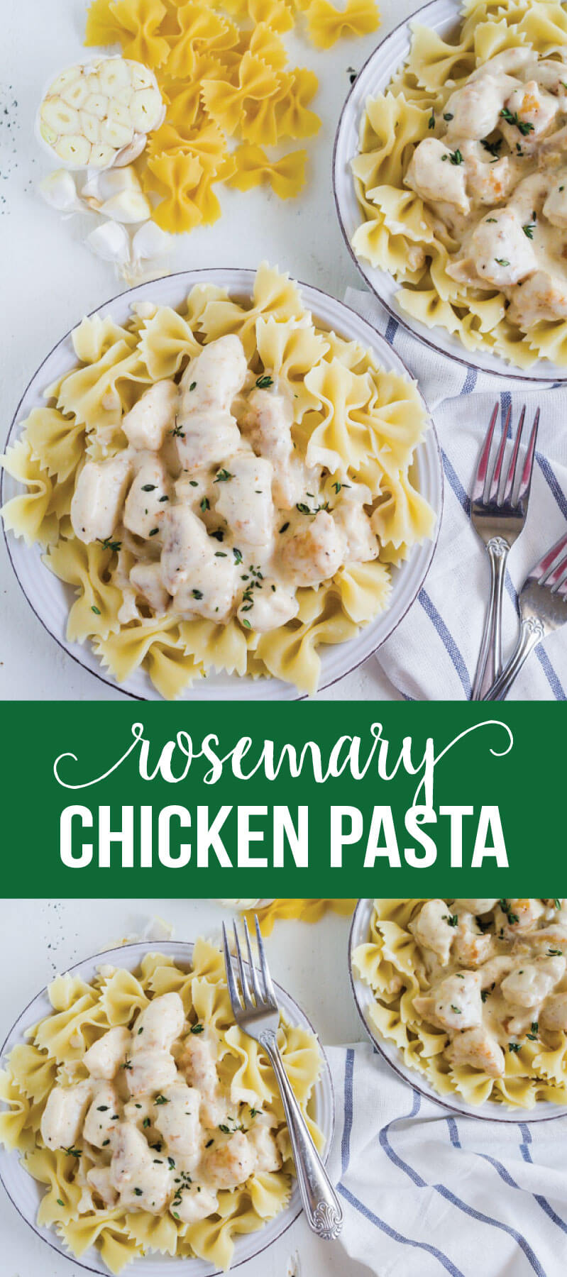 Rosemary Chicken Pasta - an easy main dish that has become a family favorite. from www.thirtyhandmadedays.com