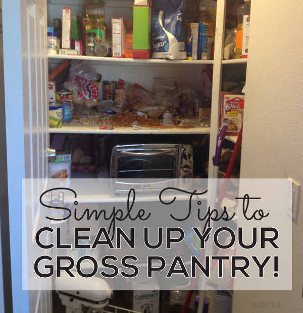 Simple tips to clean up your gross pantry from @30daysblog.  Printables included! www.thirtyhandmadedays.com