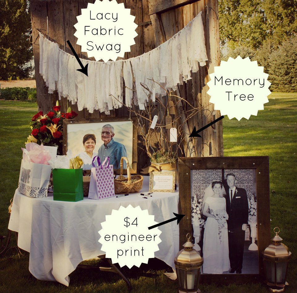 50th Wedding Anniversary Party Ideas: DIY 50th Wedding Anniversary Party From Salty Bison