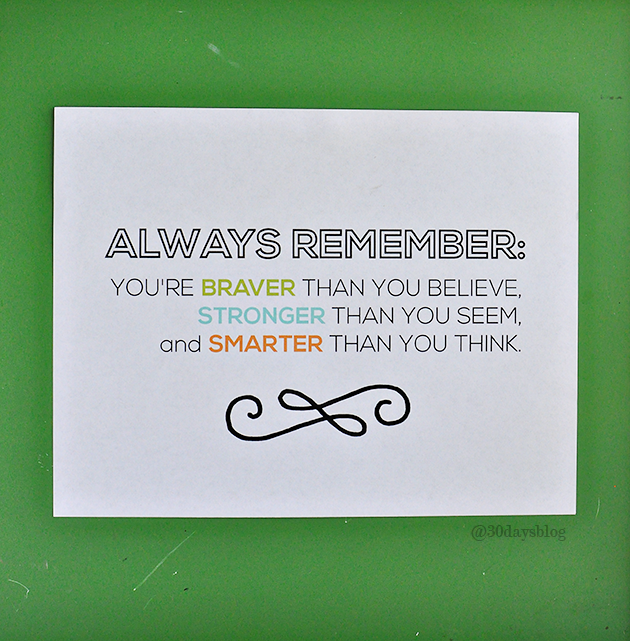 Always remember printable quote from www.thirtyhandmadedays.com