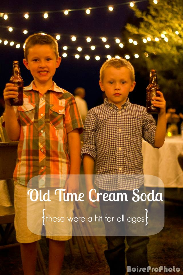 anniversary party cream soda
