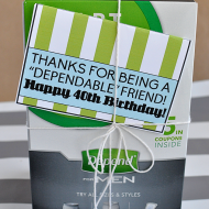 40th Birthday Gifts for Him: Depends Printable