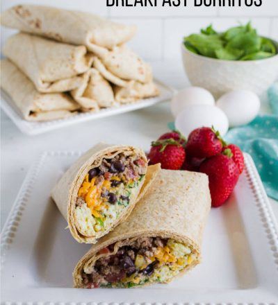 Protein Packed Breakfast Burritos - make these ahead to reheat throughout the week. via thirtyhandmadedays.com