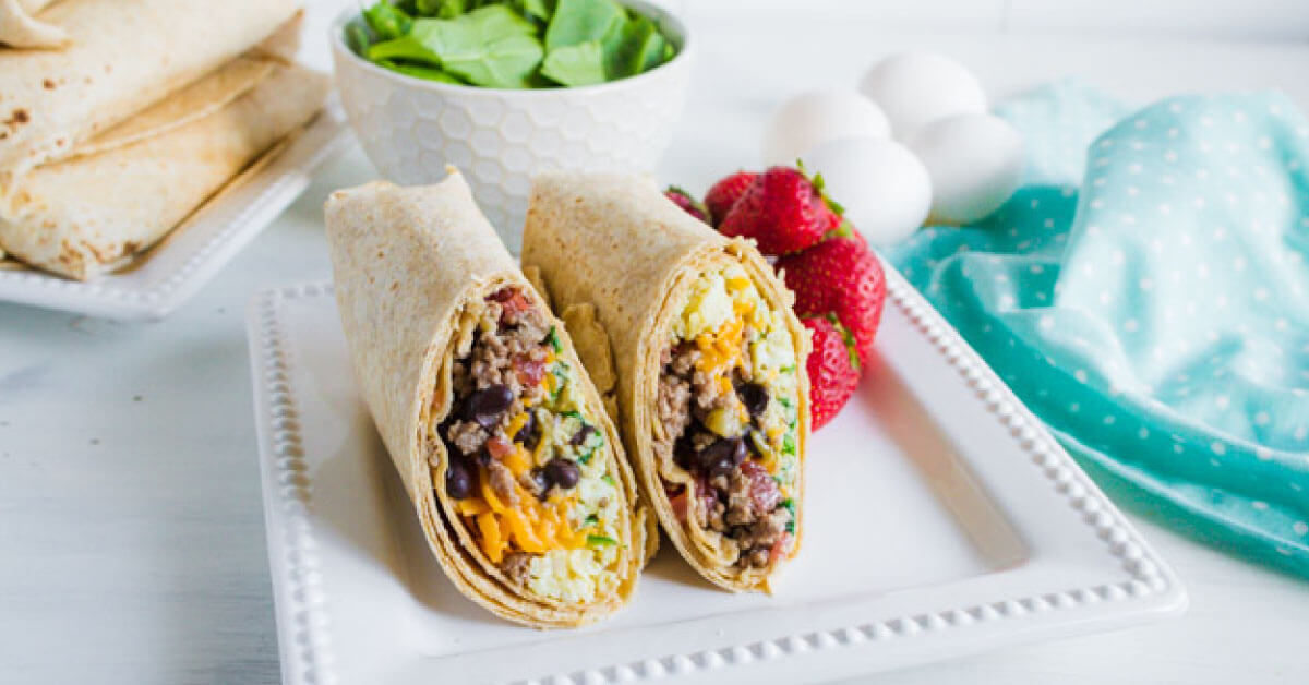 Protein Packed Breakfast Burritos - make these ahead to reheat throughout the week.