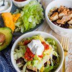 Burrito Bowl Recipe - an easy, healthy, family friendly dinner idea from www.thirtyhandmadedays.com