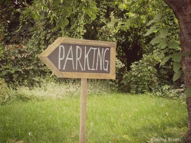 chalkboard arrow sign
