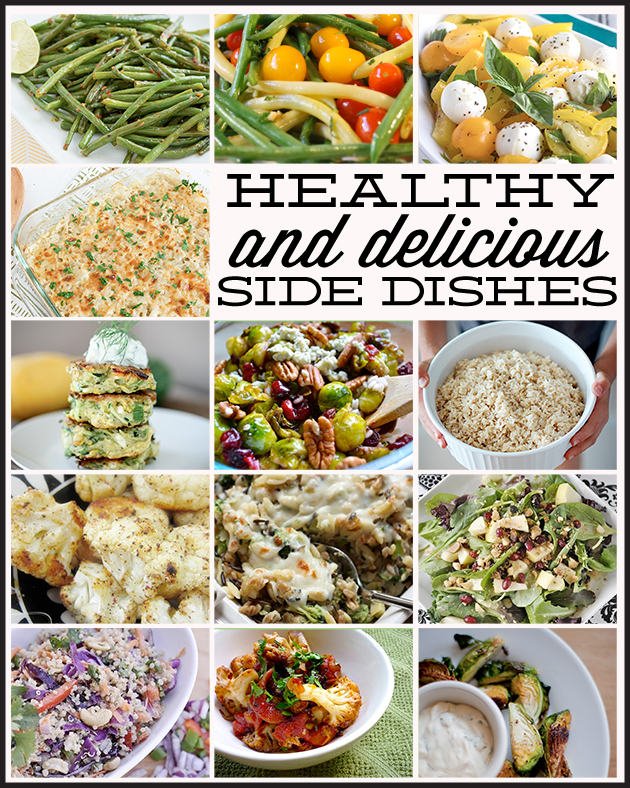 Over 25 Delicious & Healthy Side Dishes www.thirtyhandmadedays.com