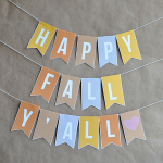 Fall Decorations: Printable Banner