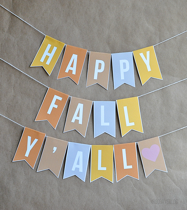 graphic relating to Happy Fall Yall Printable referred to as Drop Decorations: Printable Banner