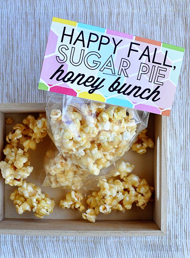 Fall Printable Pack - with Honey Popcorn from www.thirtyhandmadedays.com