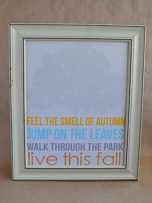 Fall Quote 8x10 Printable from www.thirtyhandmadedays.com