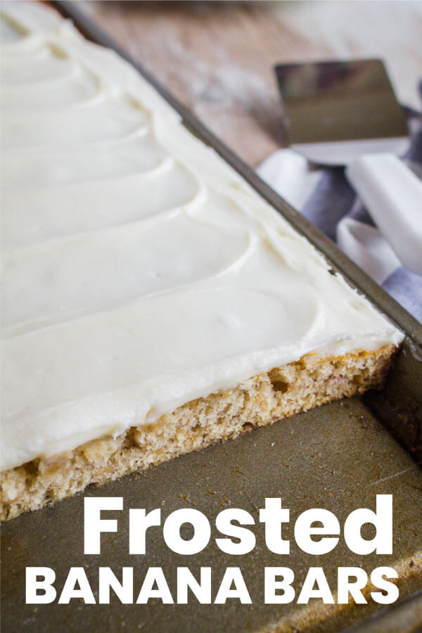 Frosted Banana Bars Recipe - use overripe bananas to make this recipe with cream cheese frosting. Yum! from www.thirtyhandmadedays.com