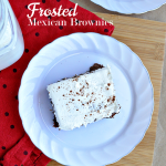 Take your brownies to the next level- delicious and simple Frosted Mexican Brownies recipe www.thirtyhandmadedays.com