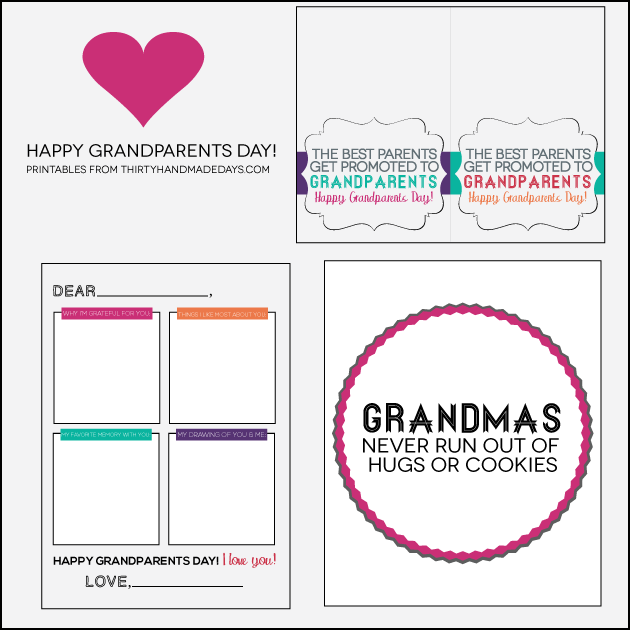 photo about Printable Grandparents Day Card identified as Rejoice Grandparents Working day with 3 Exciting Printables