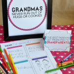 Happy Grandparents Day! Free printables to help celebrate- 8x10 grandma print, letter and cards from www.thirtyhandmadedays.com
