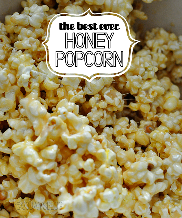 the best ever Honey Popcorn