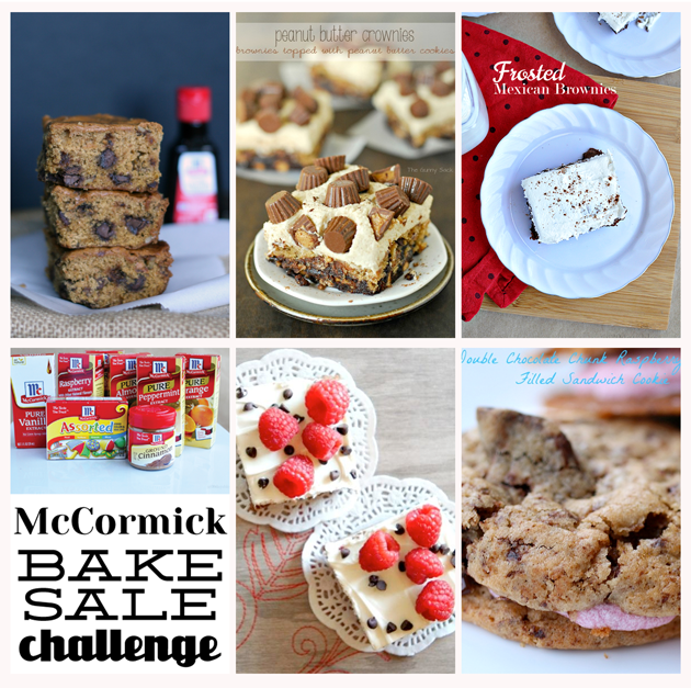McCormick Bake Sale Challenge - delicious recipes using McCormick ingredients.