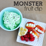 Monster Fruit Dip - fun idea for Halloween from www.thirtyhandmadedays.com
