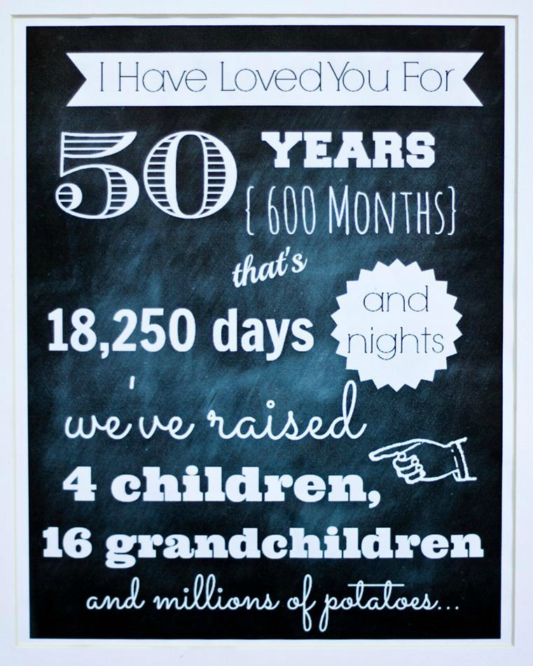 Gifts For Grandparents 50th Wedding Anniversary: DIY 50th Wedding Anniversary Ideas