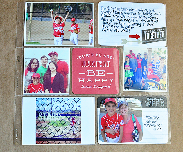 Project Life Layout for the boys www.thirtyhandmadedays.com