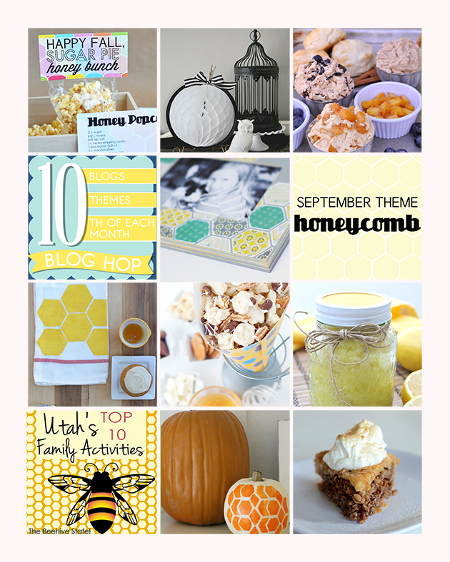 10 fabulous HONEYCOMB themed projects from 10 bloggers on the 10th! Join in on the blog hop.