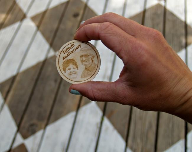 wooden token
