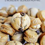 Blender Peanut Butter Banana Muffins Recipe (5 Ingredients)