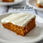Pumpkin Recipes- the Best Frosted Pumpkin Bars EVER!