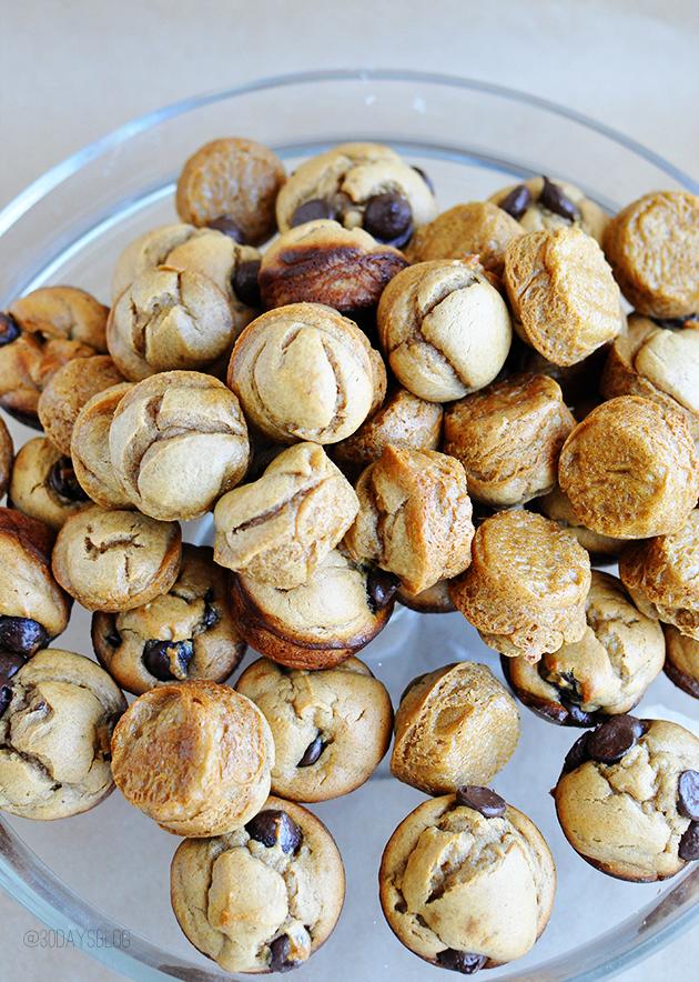 5 Ingredient Blendtec Blender Peanut Butter Banana Muffins