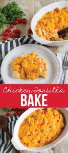 Chicken Tortilla Bake - an easy to make family favorite main dish. www.thirtyhandmadedays.com