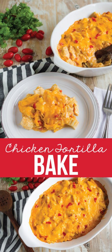 Chicken Tortilla Bake - an easy to make family favorite main dish. www.thirtyhandmadedays.com