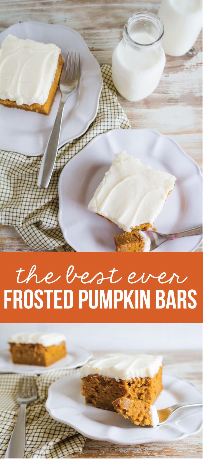 the Best Pumpkin Bars you'll ever eat via www.thirtyhandmadedays.com