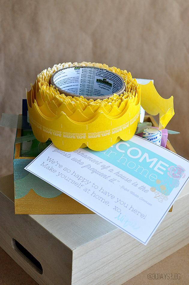 Gift Idea - cute box using FrogTape Shape Wear www.thirtyhandmadedays.com