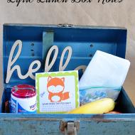 Printable Lyric Lunch Box Notes