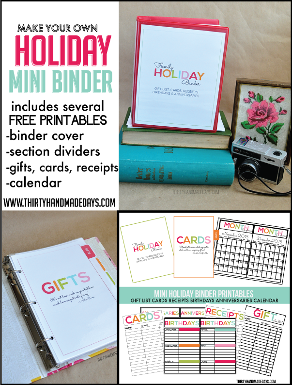 holiday mini binders printables included