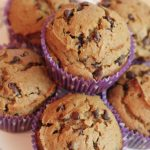 Delicious and simple Pumpkin Chocolate Chip Muffins - semi homemade via bebe a la mode on www.thirtyhandmadedays.com