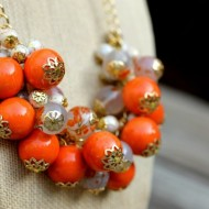 Can't Get Enough Orange Necklace Tutorial