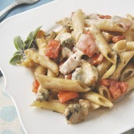 Balsamic & Pesto Chicken Pasta
