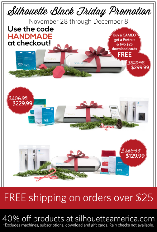 Amazing Black Friday Silhouette Promotion