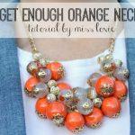 Can't Get Enough Orange Necklace Tutorial