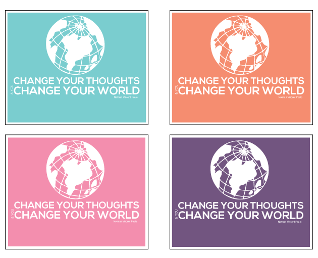 Change your thoughts Printable Quote from www.thirtyhandmadedays.com