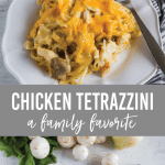 Chicken Tetrazzini - a family favorite main dish/dinner recipe from www.thirtyhandmadedays.com