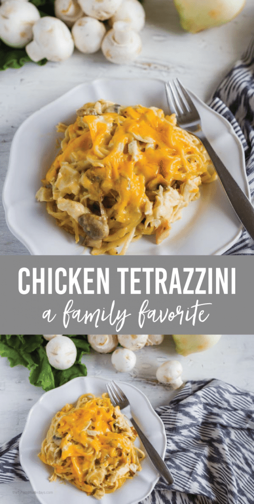 Chicken Tetrazzini - a family favorite main dish/dinner recipe from www.thirtyhandmadedays.com